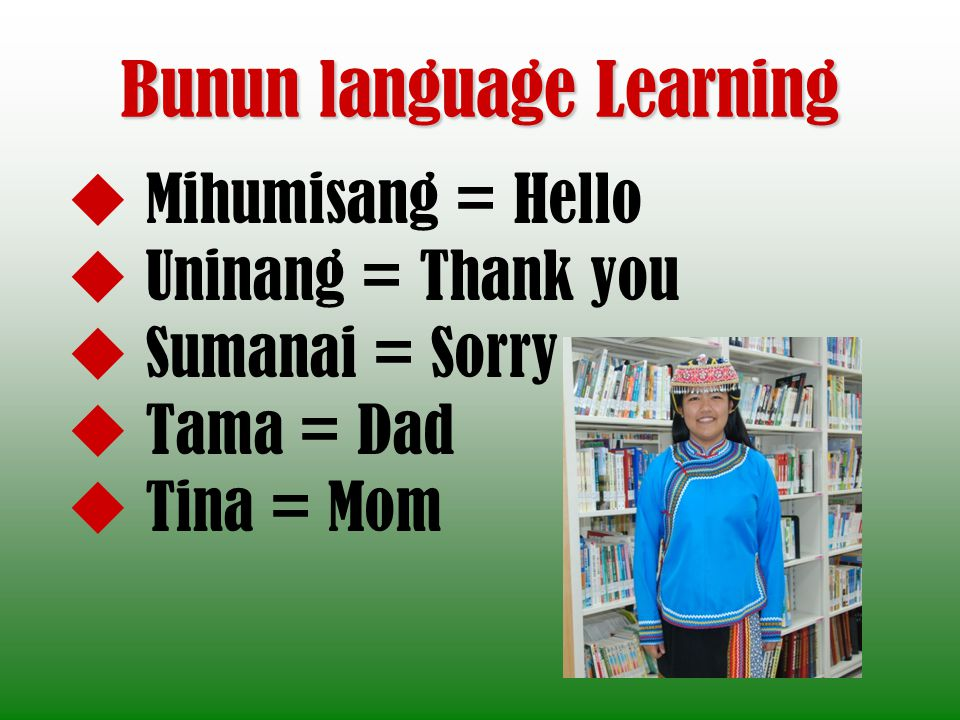 Bunun language Learning