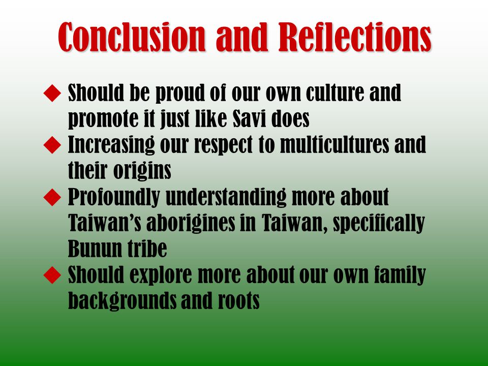 Conclusion and Reflections