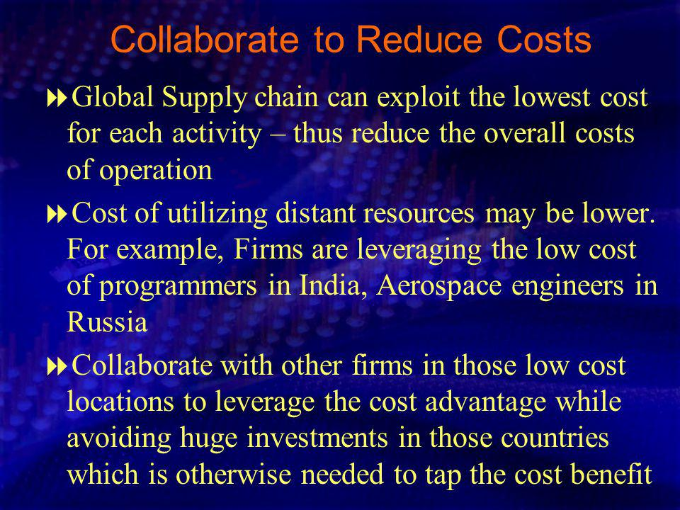 Collaborate to Reduce Costs