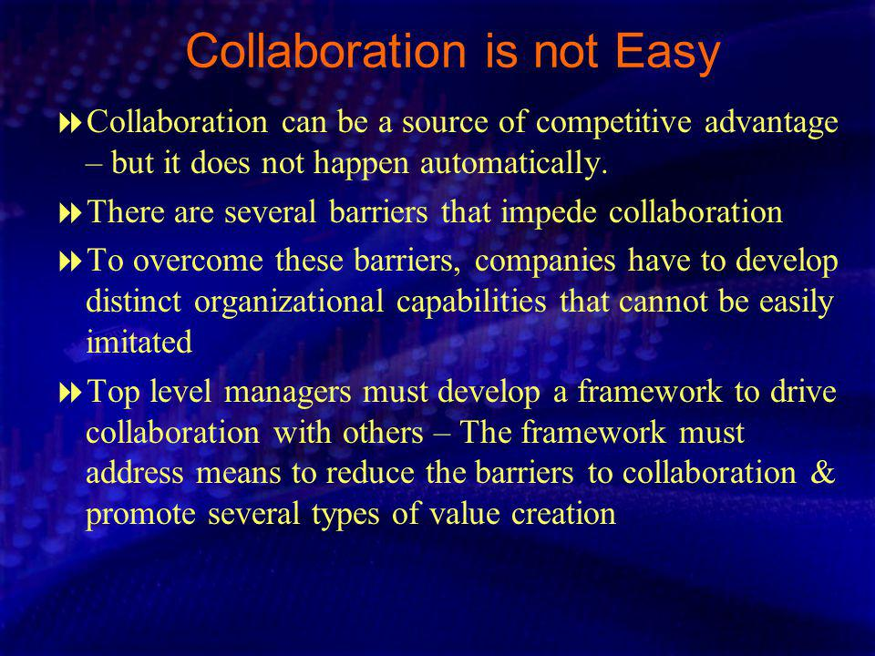 Collaboration is not Easy