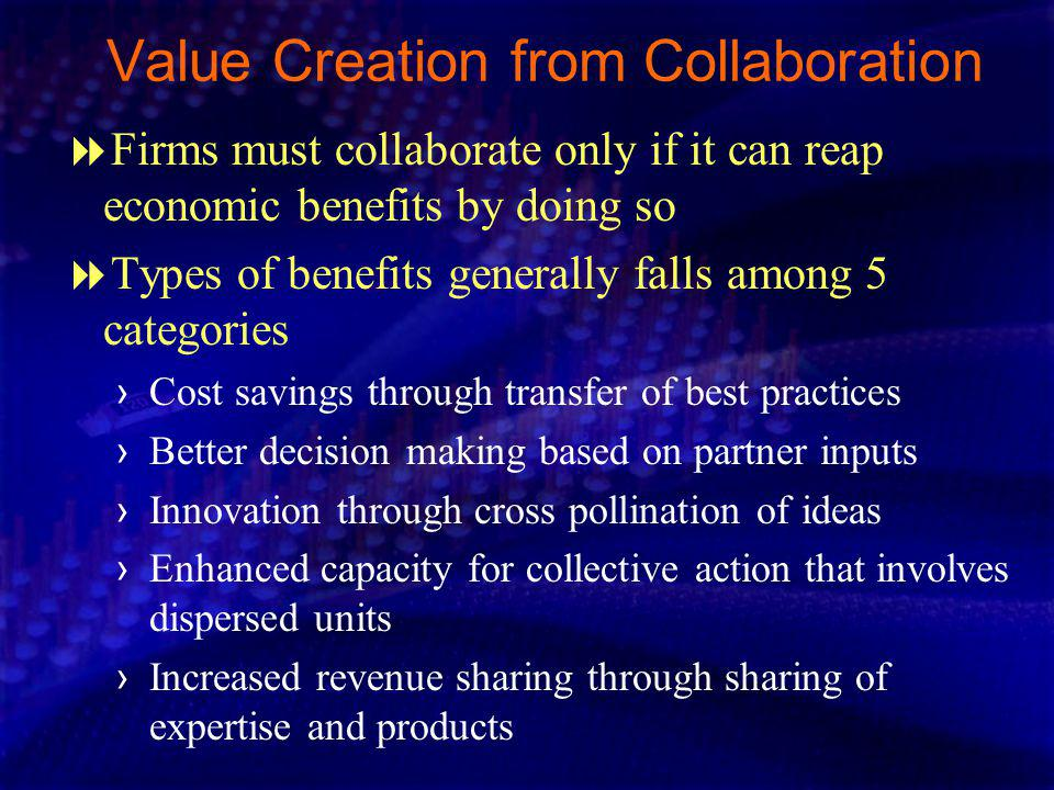 Value Creation from Collaboration