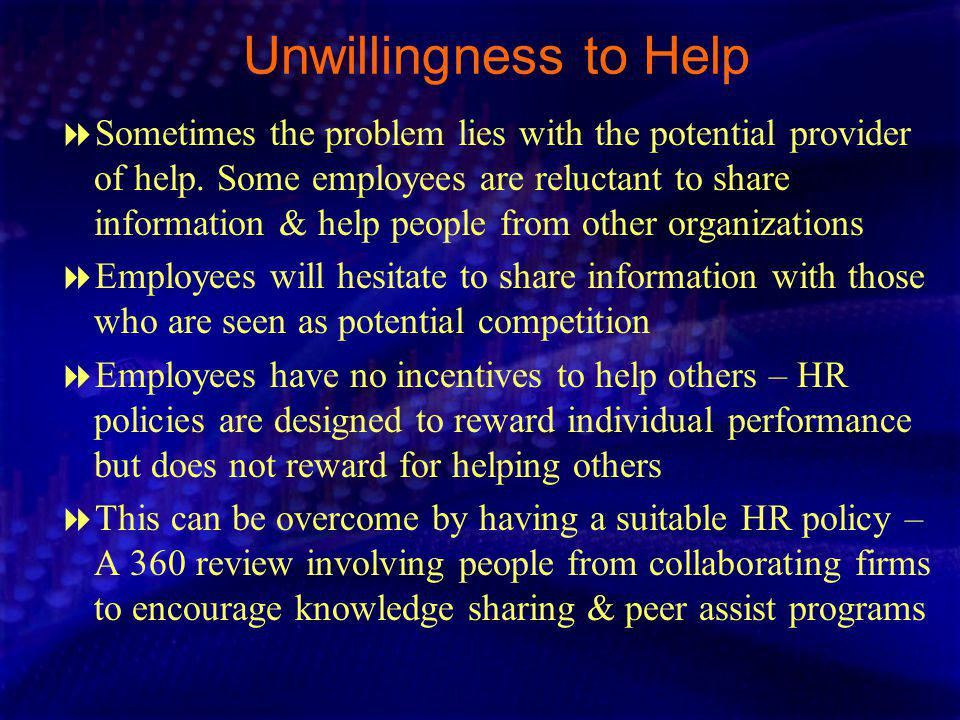 Unwillingness to Help