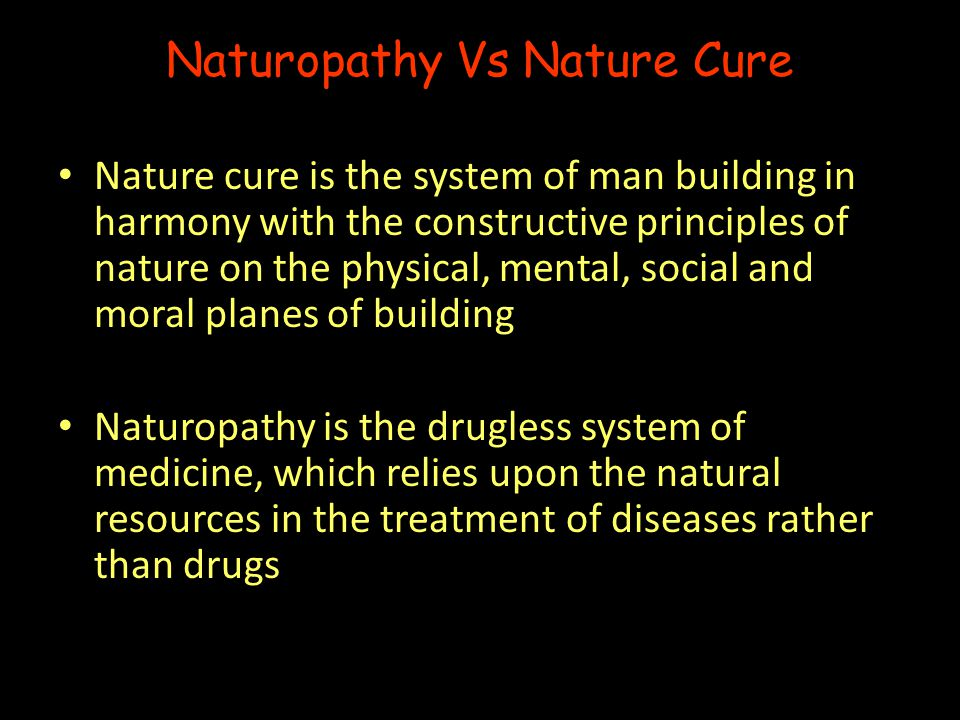 Naturopathy Vs Nature Cure