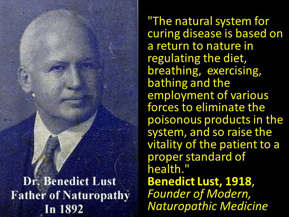 The natural system for curing disease is based on a return to nature in regulating the diet, breathing, exercising, bathing and the employment of various forces to eliminate the poisonous products in the system, and so raise the vitality of the patient to a proper standard of health.