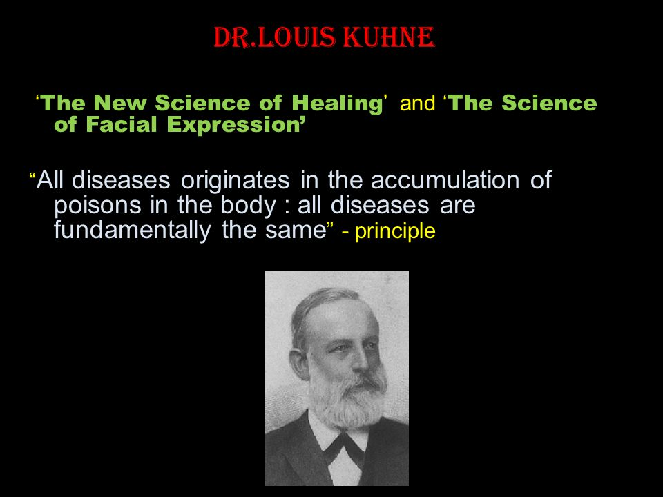 Dr.Louis Kuhne 'The New Science of Healing' and 'The Science of Facial Expression'
