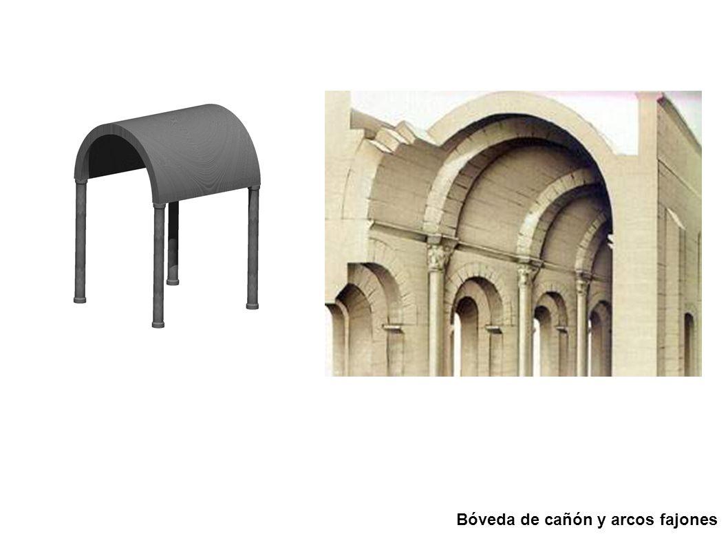 Bóveda de cañón y arcos fajones