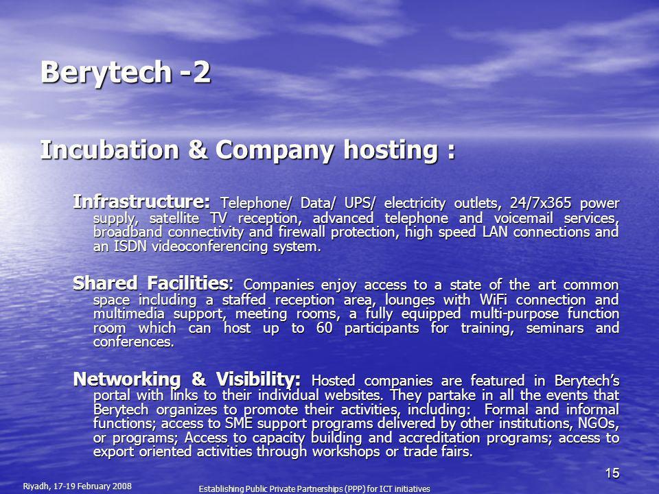 Berytech -2 Incubation & Company hosting :