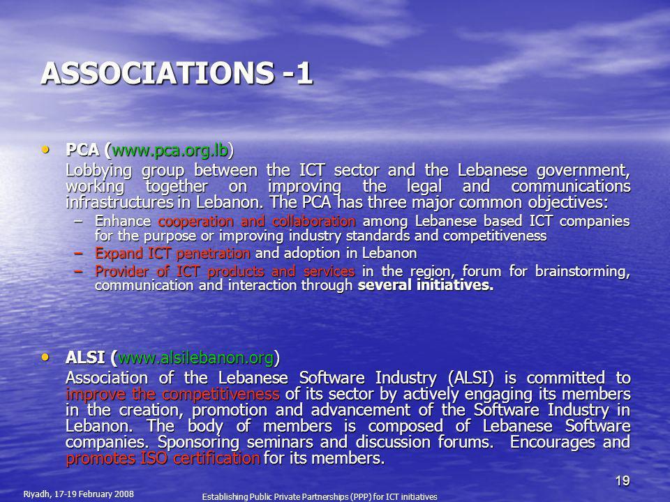 ASSOCIATIONS -1 PCA (www.pca.org.lb)