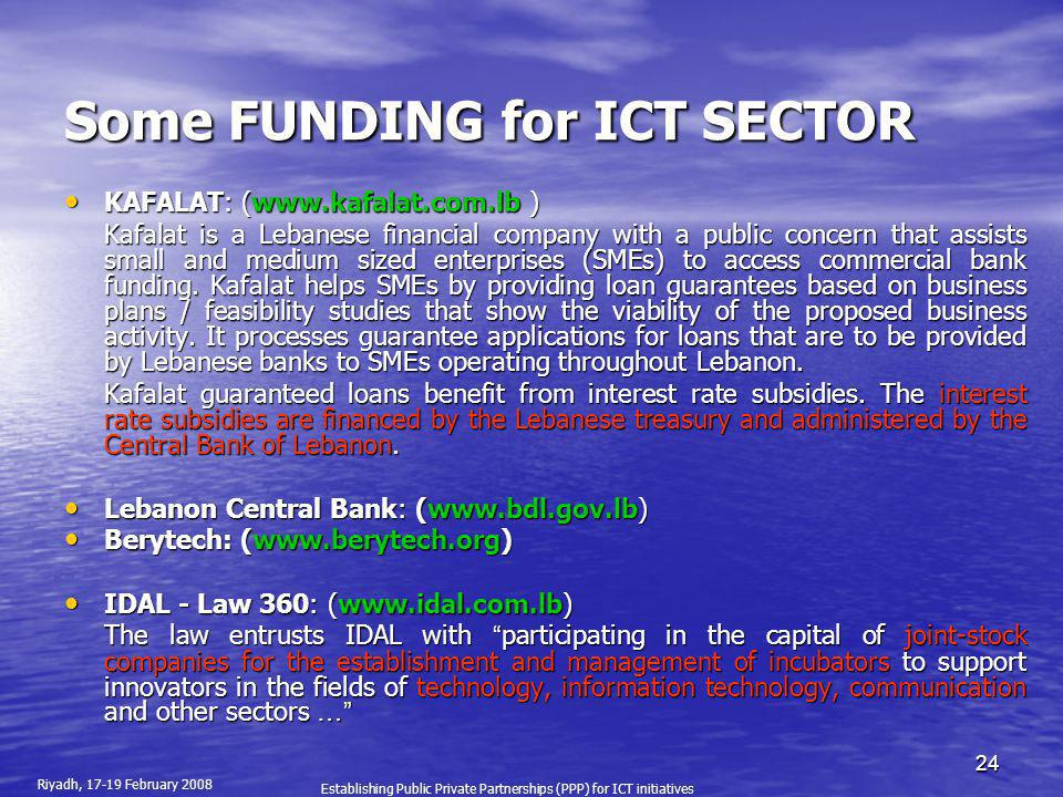 Some FUNDING for ICT SECTOR