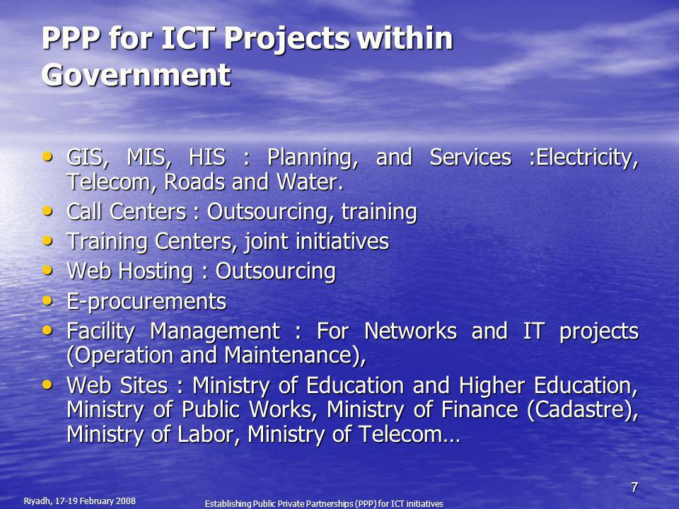 PPP for ICT Projects within Government
