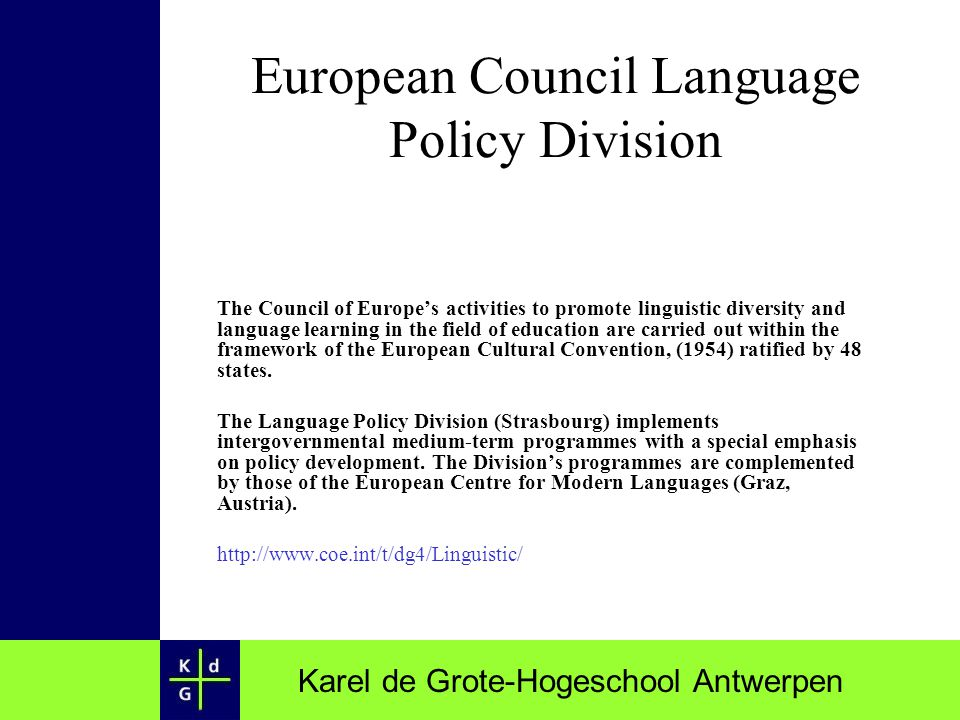 European Council Language Policy Division