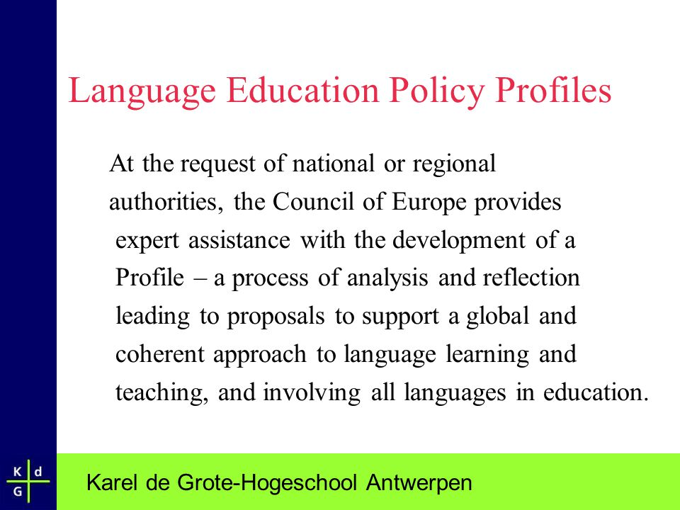 Language Education Policy Profiles