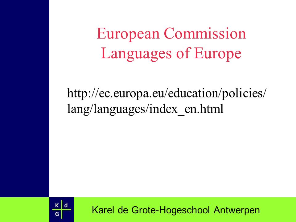 European Commission Languages of Europe