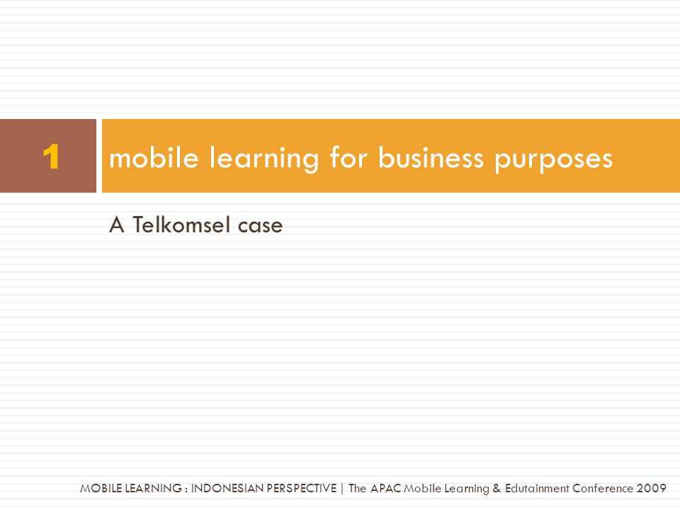 mobile learning for business purposes