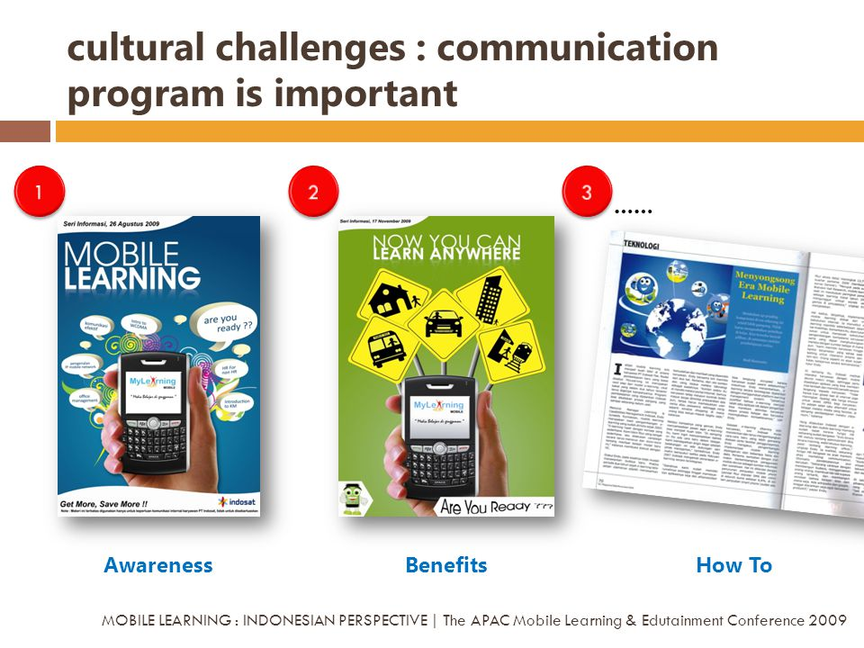 cultural challenges : communication program is important