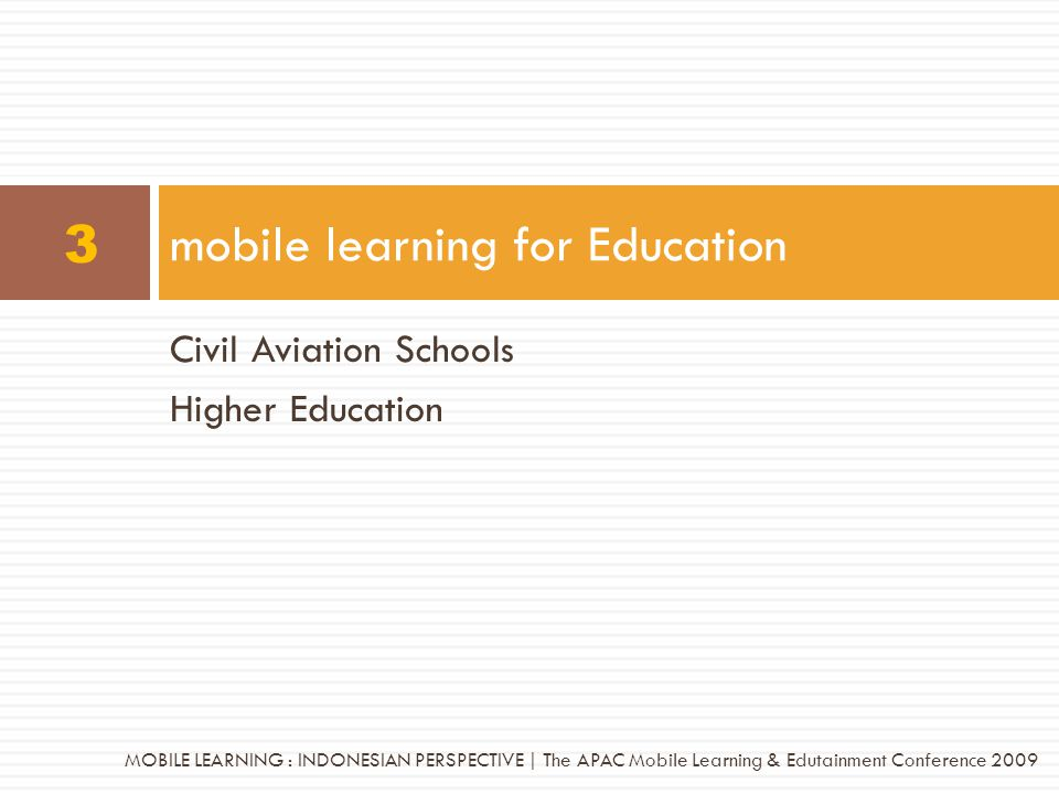 mobile learning for Education