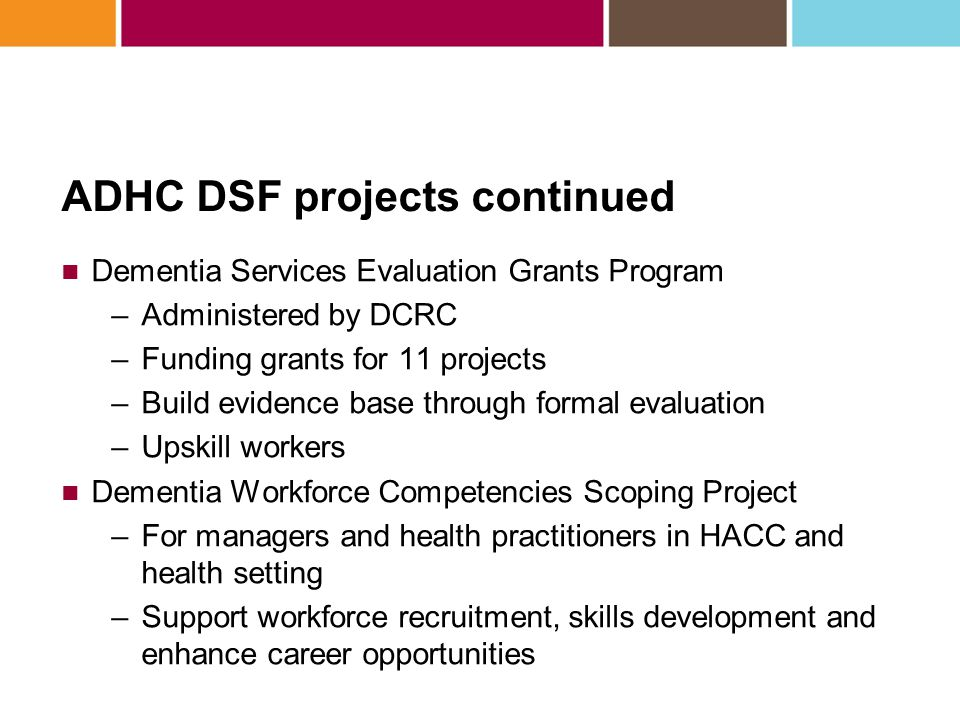 Dementia Services Evaluation Grant Program