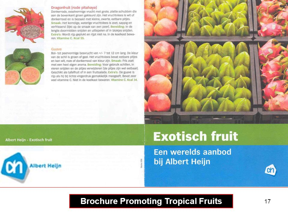 Brochure Promoting Tropical Fruits