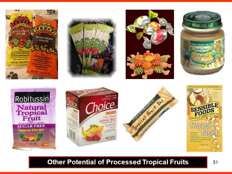 Other Potential of Processed Tropical Fruits