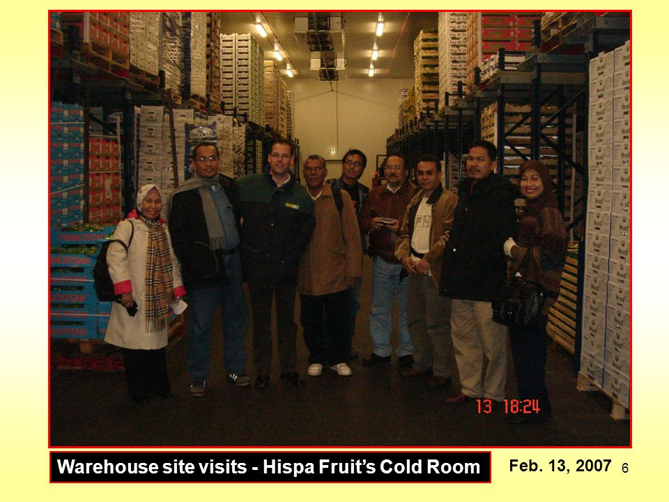 Warehouse site visits - Hispa Fruit's Cold Room