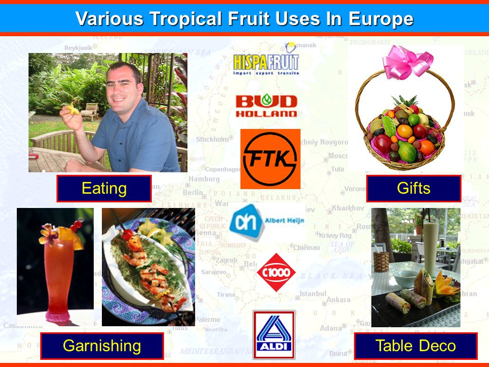 Various Tropical Fruit Uses In Europe