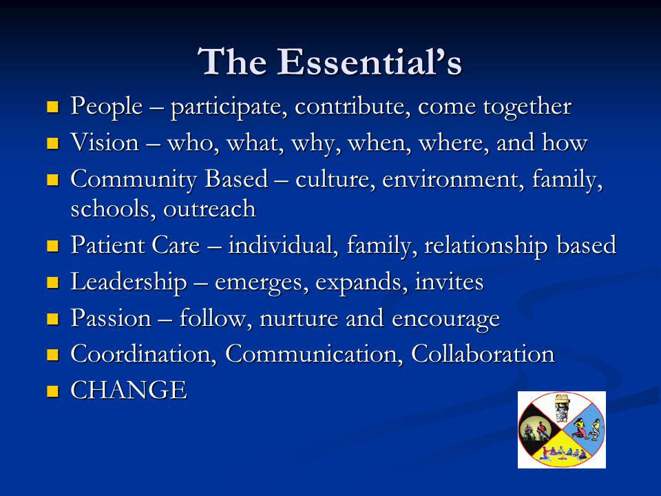 The Essential's People – participate, contribute, come together
