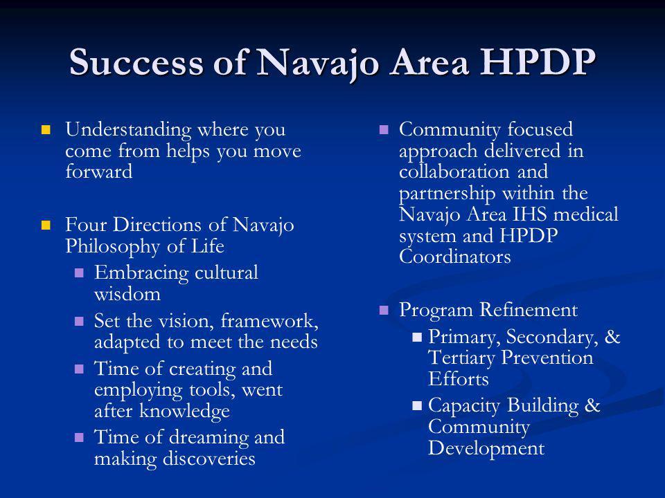 Success of Navajo Area HPDP