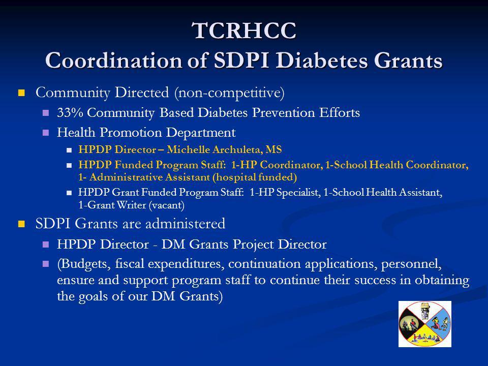 TCRHCC Coordination of SDPI Diabetes Grants
