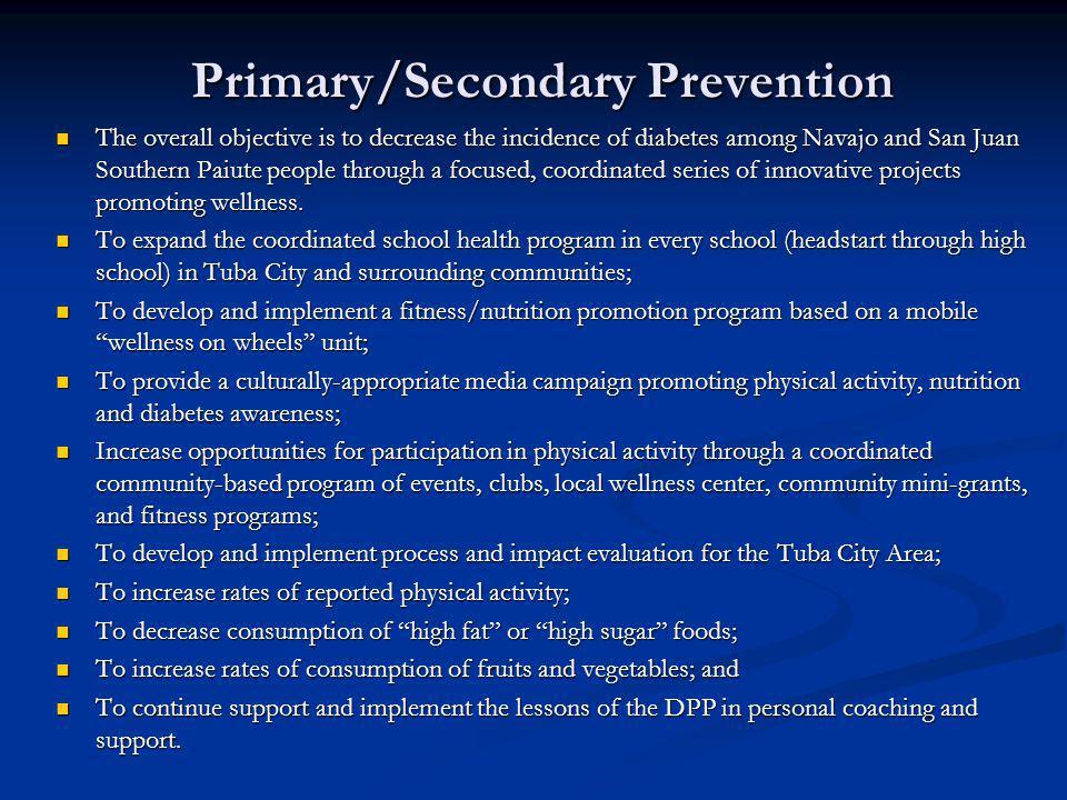 Primary/Secondary Prevention