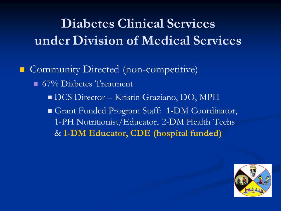 Diabetes Clinical Services under Division of Medical Services
