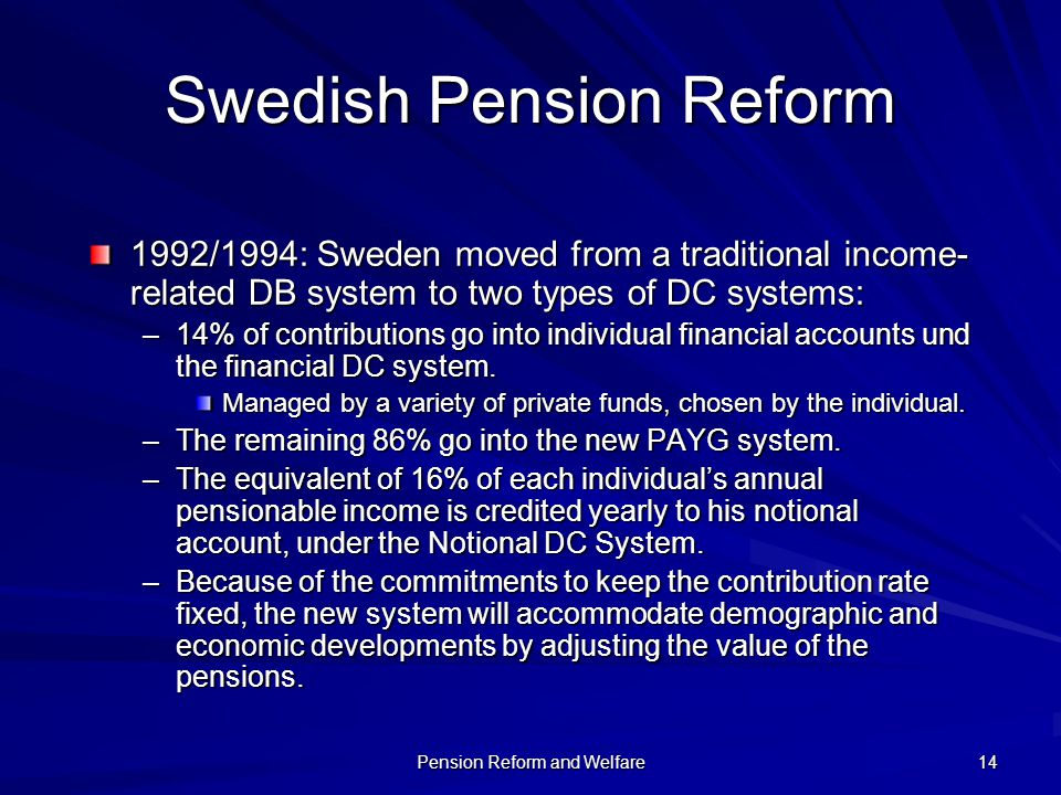 Swedish Pension Reform