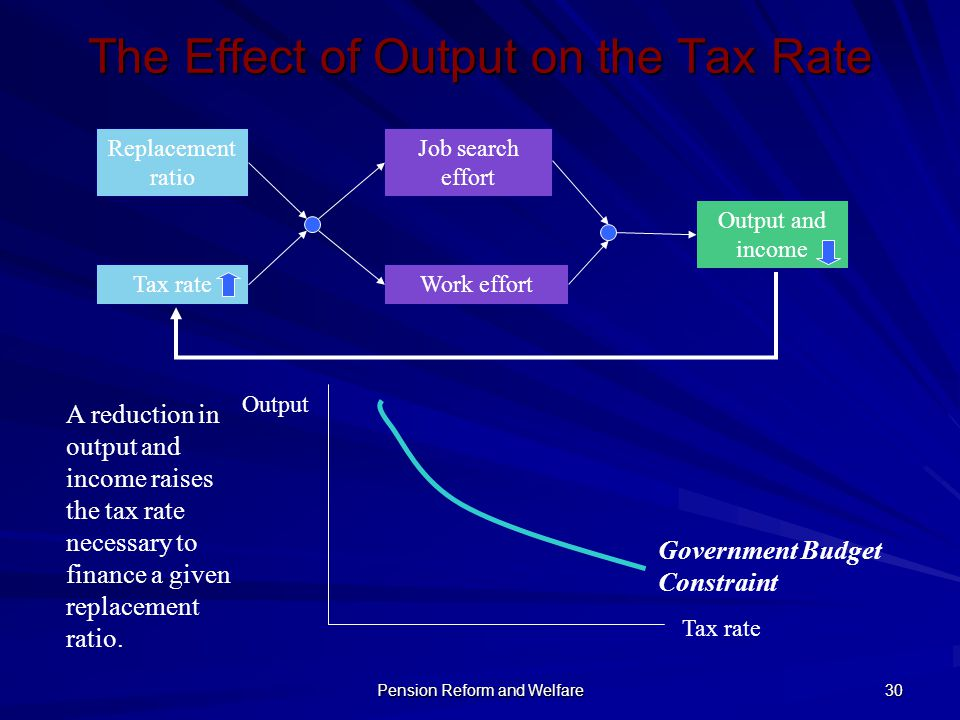 The Effect of Output on the Tax Rate