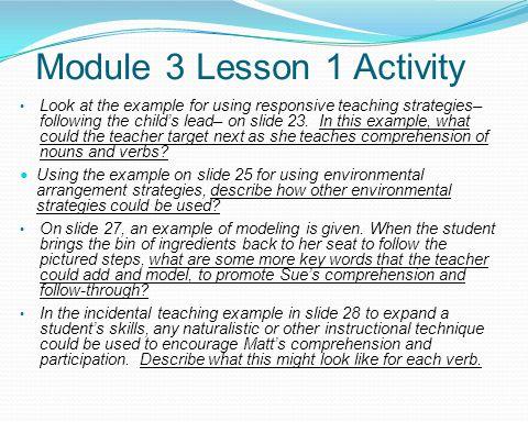 Module 3 Lesson 1 Activity