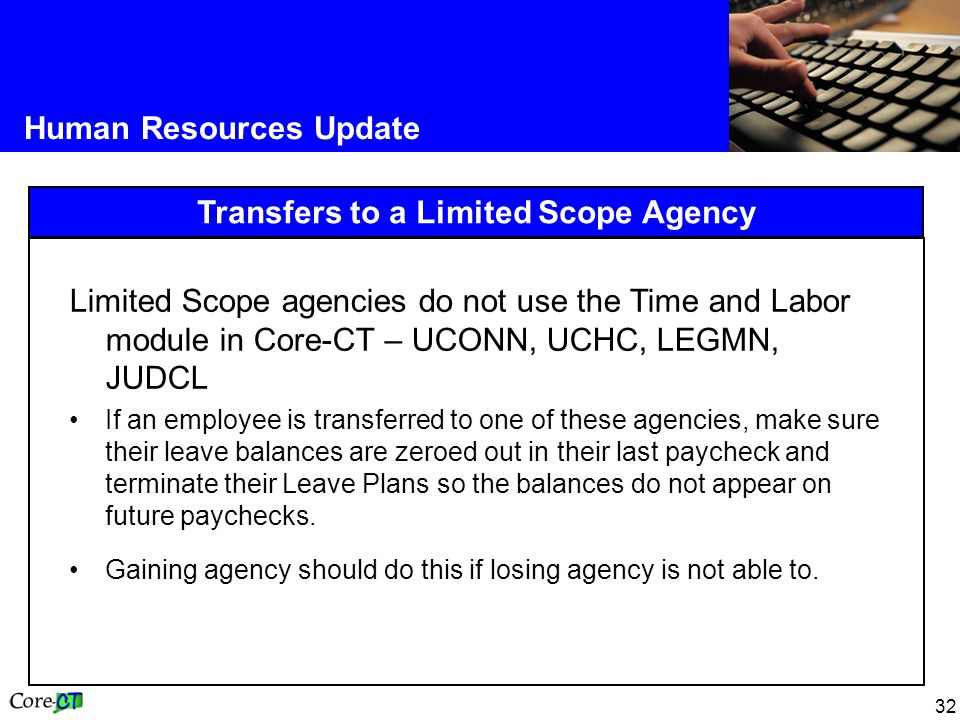 Transfers to a Limited Scope Agency