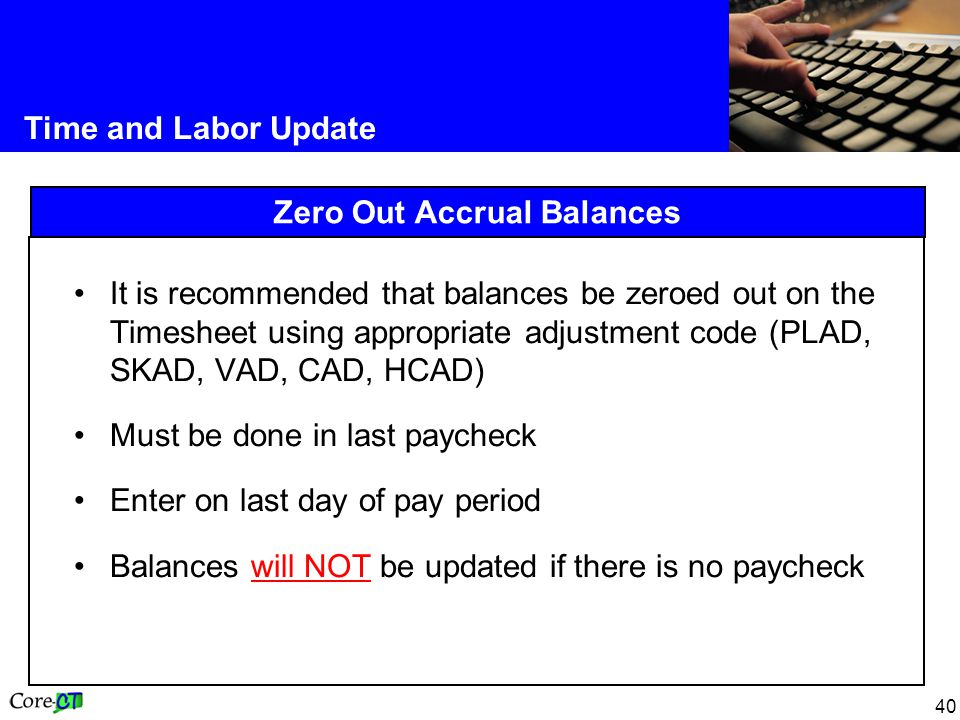 Zero Out Accrual Balances
