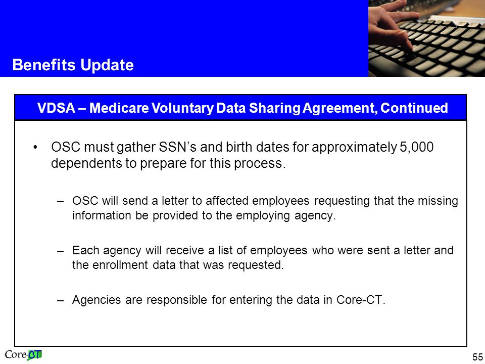 VDSA – Medicare Voluntary Data Sharing Agreement, Continued