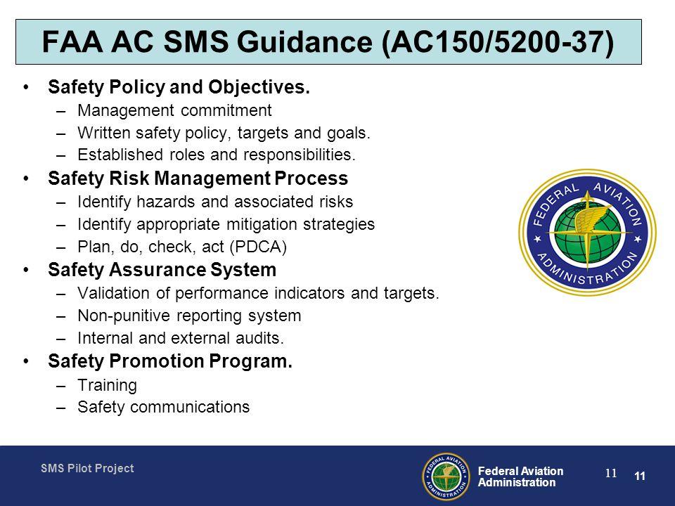FAA AC SMS Guidance (AC150/5200-37)