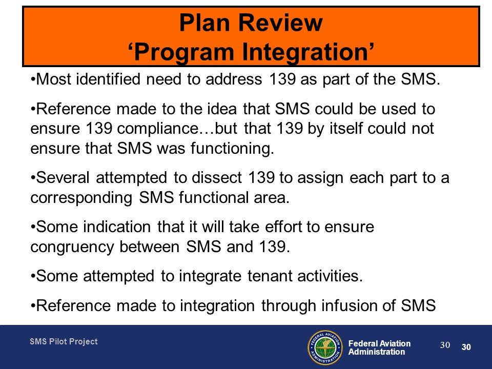 Plan Review 'Program Integration'