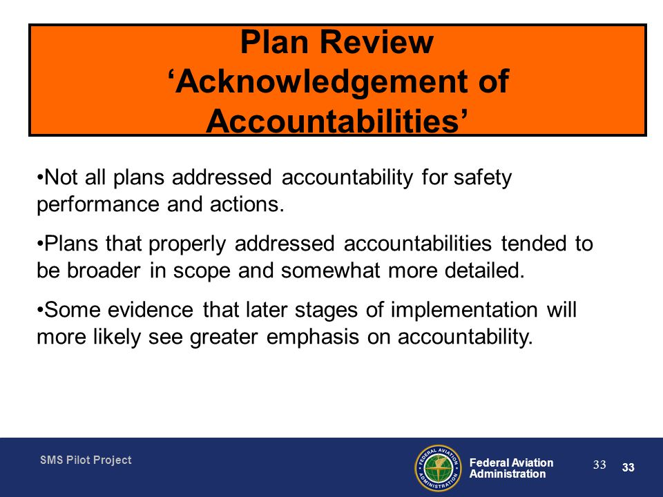 Plan Review 'Acknowledgement of Accountabilities'