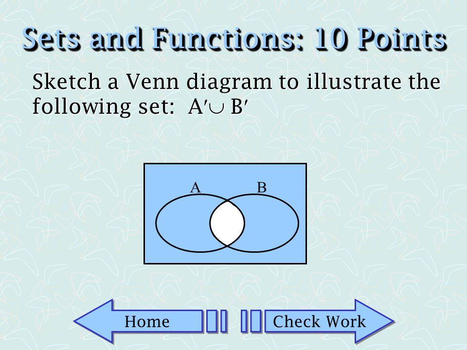 Sets and Functions: 10 Points
