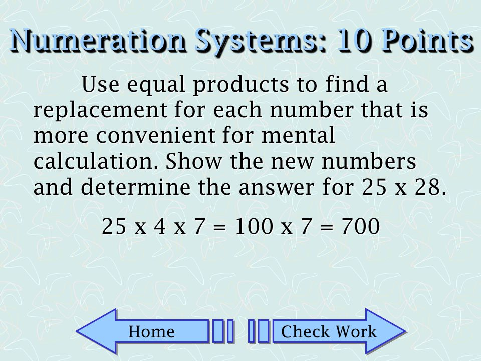 Numeration Systems: 10 Points