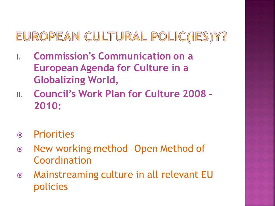 European cultural polic(ies)y
