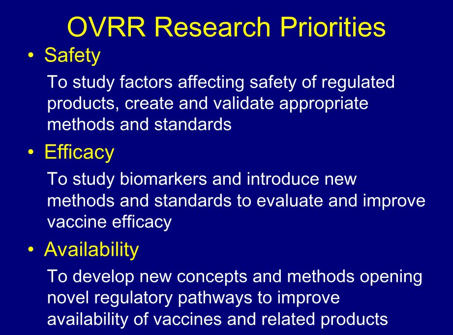 OVRR Research Priorities