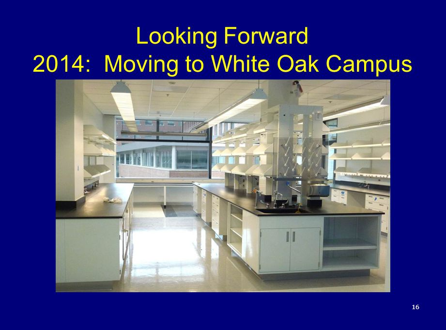 Looking Forward 2014: Moving to White Oak Campus