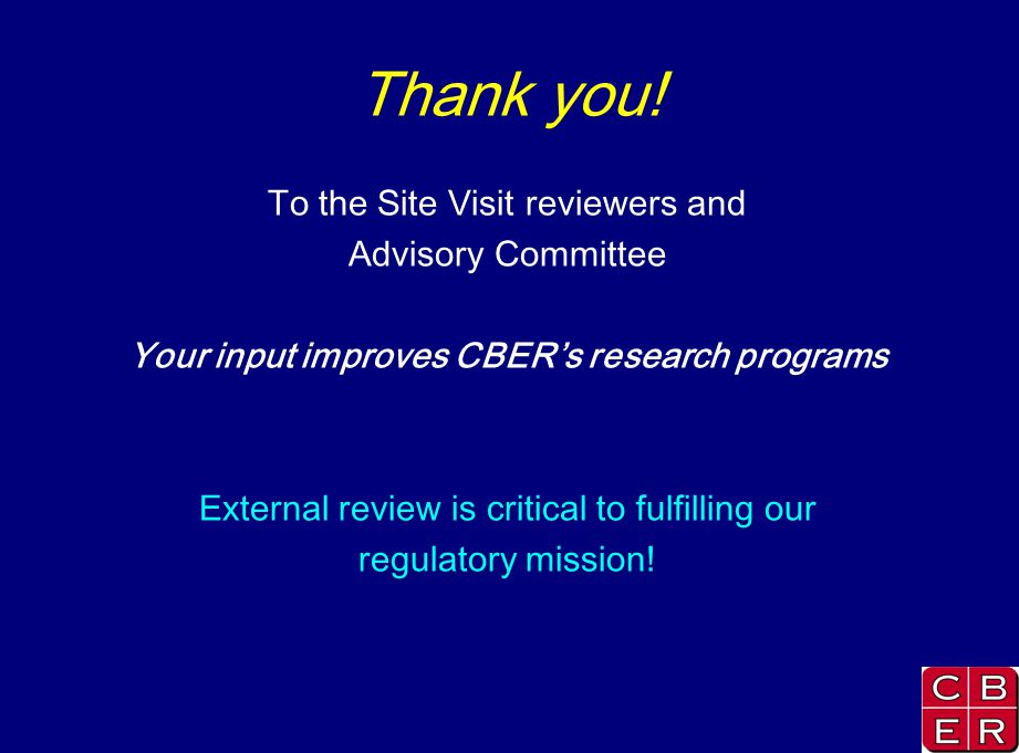 Your input improves CBER's research programs