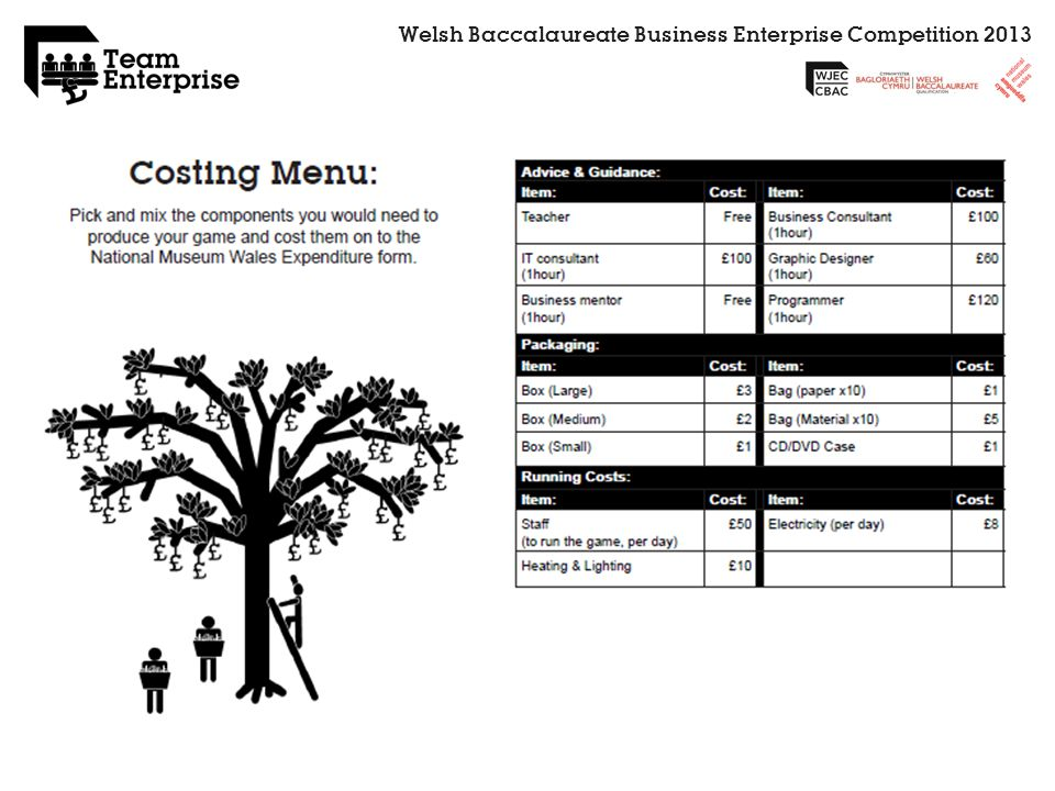 Welsh Baccalaureate Business Enterprise Competition 2013