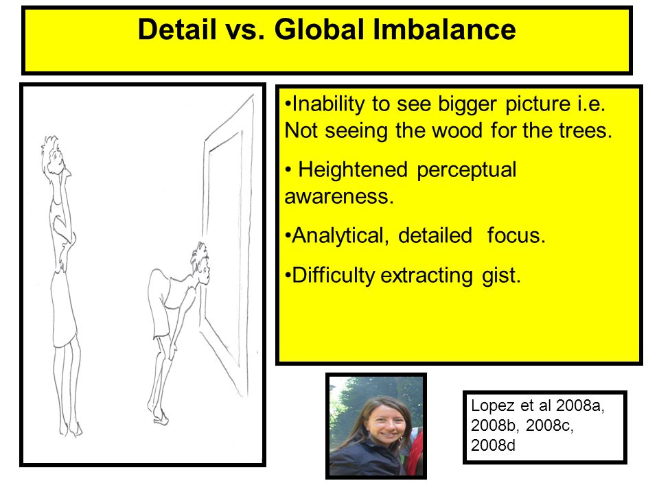Detail vs. Global Imbalance