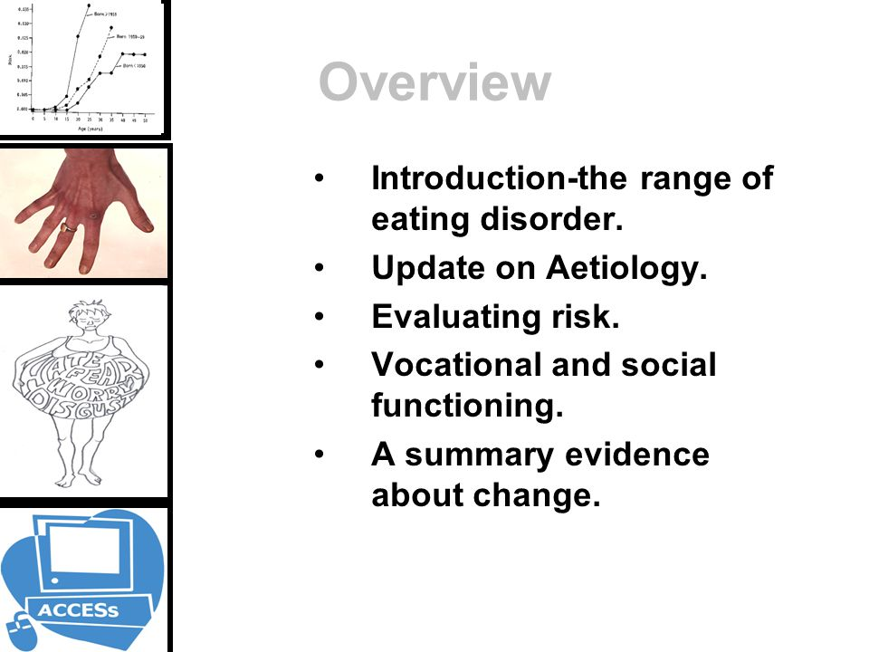 Overview Introduction-the range of eating disorder.