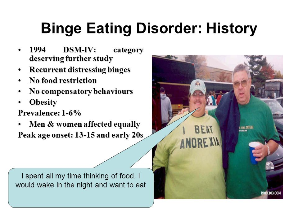 Binge Eating Disorder: History