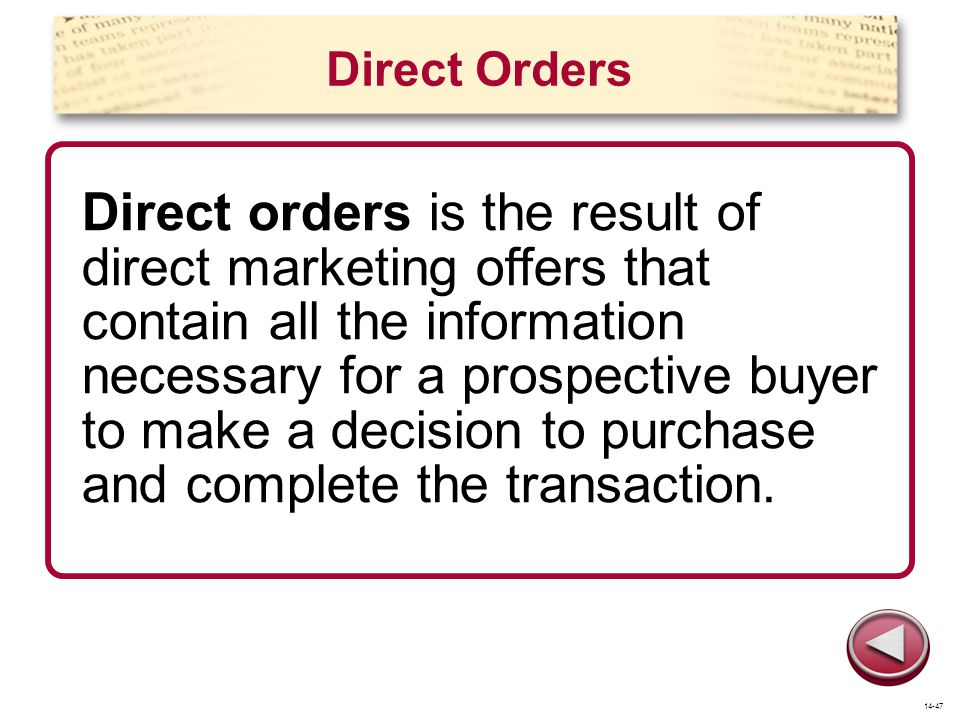 Direct Orders